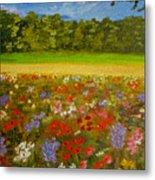 Impressionism Flowers- Pretty Posies Metal Print