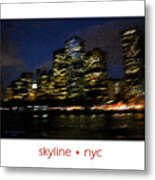 Impressionist Skyline New York City Metal Print