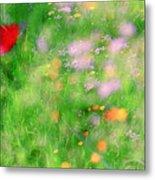 Impressionistic Blossom 5 At Britain Park Metal Print