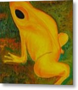 Impressionistic Golden Poison Dart Frog Orig Or Prints Metal Print
