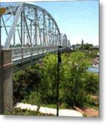 Impressionistic Llano Bridge Metal Print