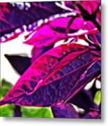 Impressionistic Purple Leaves Metal Print