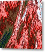 Impressions Of A Burning Forest 12 Metal Print