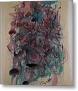 Improvisation Two Metal Print by Edward Wolverton
