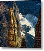 In A High Place Impasto Metal Print