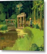 In A Park Metal Print by Edouard Manet