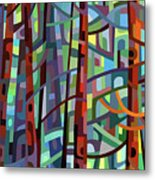 In A Pine Forest - Crop Metal Print