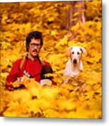 In A Yellow Wood - Paint Metal Print