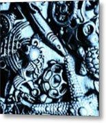 In Blue Nautilus  Metal Print