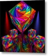 In Different Colors Thrown -8- Metal Print by Issabild -