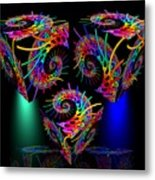 In Different Colors Thrown -9- Metal Print by Issabild -
