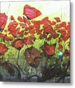 Fields Of Poppies Metal Print