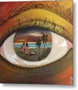 In His Eyes  Metal Print