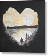 In Love With Meditation  Metal Print
