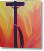 In Our Sufferings We Can Lean On The Cross By Trusting In Christ's Love Metal Print by Elizabeth Wang
