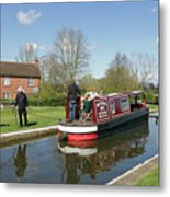 In Papercourt Lock On The Wey Navigations Metal Print