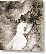 In Shadows Searching For Lies Metal Print