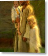 In The Arms Of His Love Metal Print by Greg Olsen