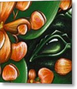 In The Begonias Metal Print