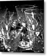 In The China Cabinet Metal Print