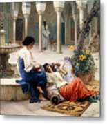 In The Courtyard Of The Harem Metal Print