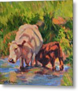 In The Creek Metal Print