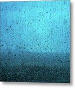 In The Dark Blue Rain Metal Print