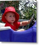 In The Driver's Seat Metal Print