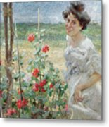In The Flower Garden, 1899 Metal Print