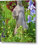 In The Flower Garden Metal Print