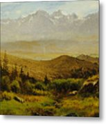 In The Foothills Of The Rockies Metal Print by Albert Bierstadt