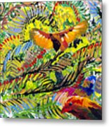 Birds In The Forest Metal Print