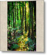 In The Forest With Words Metal Print