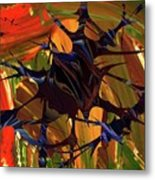 In The Forward Mind Abstract Metal Print