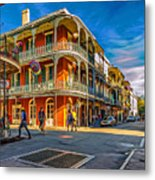 In The French Quarter - 2 Paint Metal Print