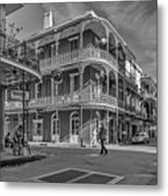 In The French Quarter - 3 Bw Metal Print