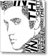 In The Ghetto Elvis Wordart Metal Print