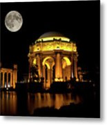 In The Glow Of The Supermoon Metal Print