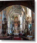 In The Gothic-baroque Church Metal Print