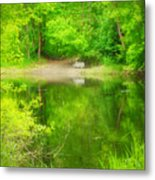 In The Green Metal Print