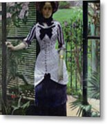 In The Greenhouse Metal Print by Albert Bartholome