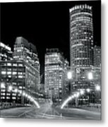 In The Heart Of A Black And White Town Metal Print