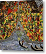 In The Light Of Shimmering Night In Venice Metal Print