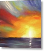 In The Moment - Vertical Sunset Metal Print