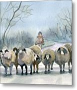 In The Morning Mist Metal Print