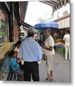 In The Naschmarkt Vienna Metal Print
