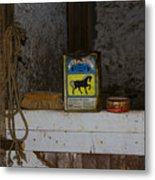 In The Old Horse Barn Metal Print