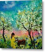 In the orchard Metal Print