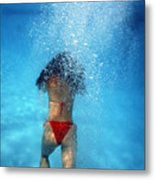 In The Pool Metal Print