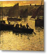 In The Port Metal Print by Charles Cottet
